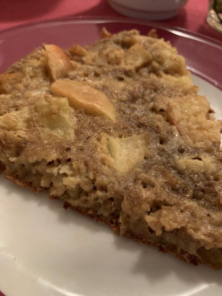 Gesunder Apfelkuchen aus der Pfanne